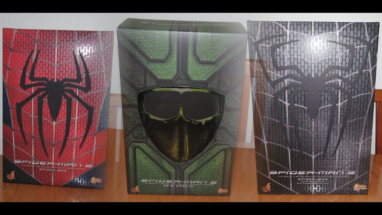 SPIDER-MAN 3 - Spider-Man - New Goblin - Spider-Man (Black ... Green Goblin Hot Toys