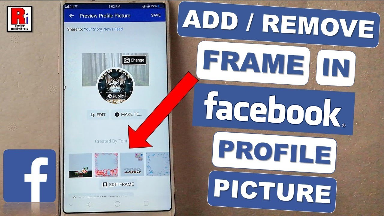 How To Add / Remove Frame In Facebook Profile Picture ...