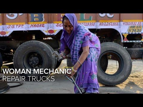 70-Year-Old Woman Mechanic Repairs Trucks
