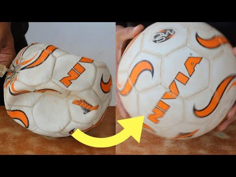 How to Fix a Punctured Football / Volleyball in 5 Rupees at Home | SportShala | Hindi |