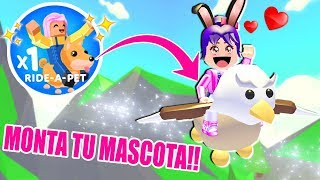 MOUNT ON MY PETS! SUPER EPIC! - ADOPT ME! - ROBLOX