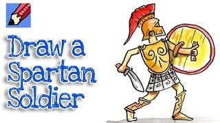 How to Draw a Spartan Warrior Real Easy - Step by Step