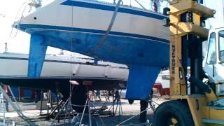 Sweden Yachts 36 - Jendor - Boatyard Move