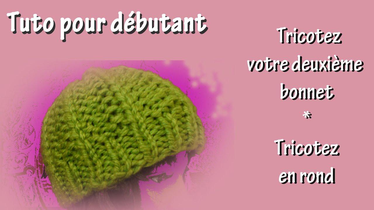Tuto tricot pour débutant : Votre deuxième bonnet - YouTube