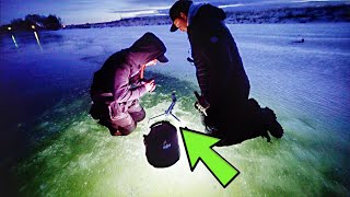 Ice Fishing UNREAL Pond For A NEW SPECIES!!! (Surprising)