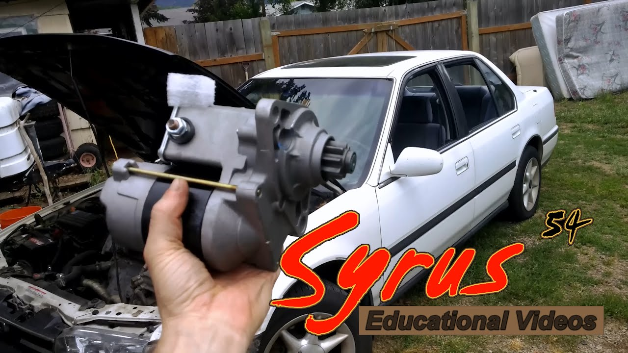 vehicular education starter replacement 1989 1993 4th gen honda accord  [ 1280 x 720 Pixel ]