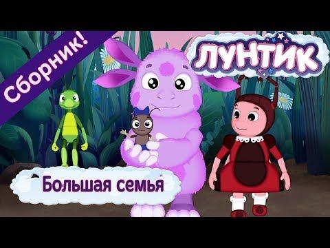 Большая семья 👨👩👧👦 Лунтик 👨👩👧👦 Сборник мультфильмов 2018