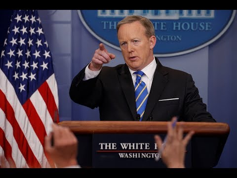 Sean spicer holds White House press briefing amid new Russia allegations