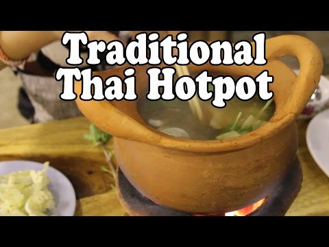 Jim Jum: Traditional Thai Hot Pot. Cooking and Eating Delicious Thai Food จิ้มจุ่ม  or จุ่มจิ้ม