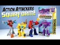 Transformers Cyberverse Action Attackers Optimus Prime Bumblebee vs Starscream & Shockwave