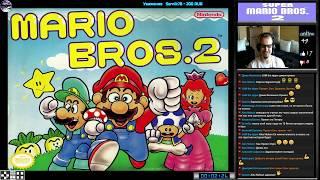 Super Mario Bros. 2 прохождение (U)   Игра на (Dendy, Nes, Famicom, 8 bit) Nintendo 1988 Стрим RUS