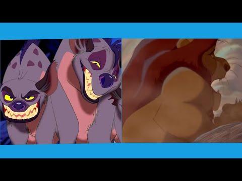 Муфаса спасает Симбу от гиен/Муфаса спасает Симбу от антилоп