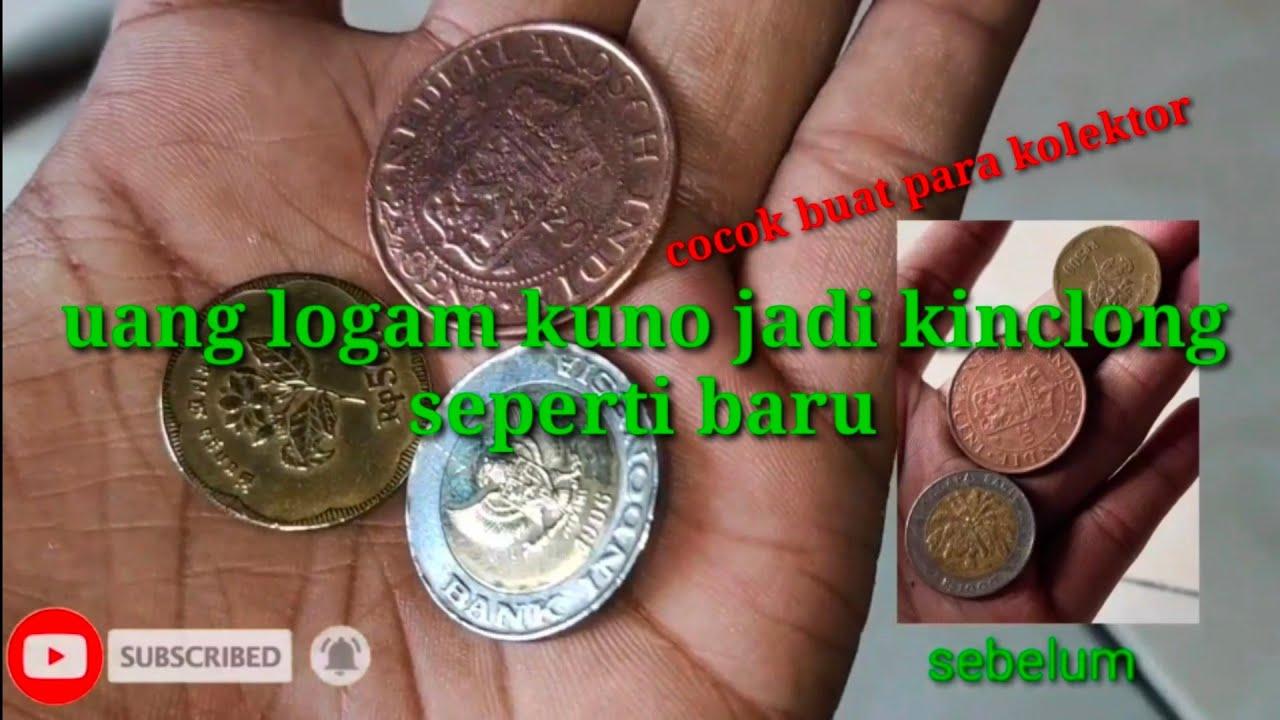 Cara membersihkan uang logam