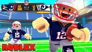 *100 POINT CHALLENGE* Roblox Football - Patriots vs Rams! (Roblox NFL 2)