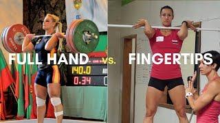 Full Hand vs. Fingertips (Weightlifting vs  CrossFit)