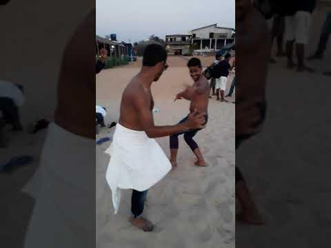 Baga beach in goa 31 dec.  2017 (dance party)