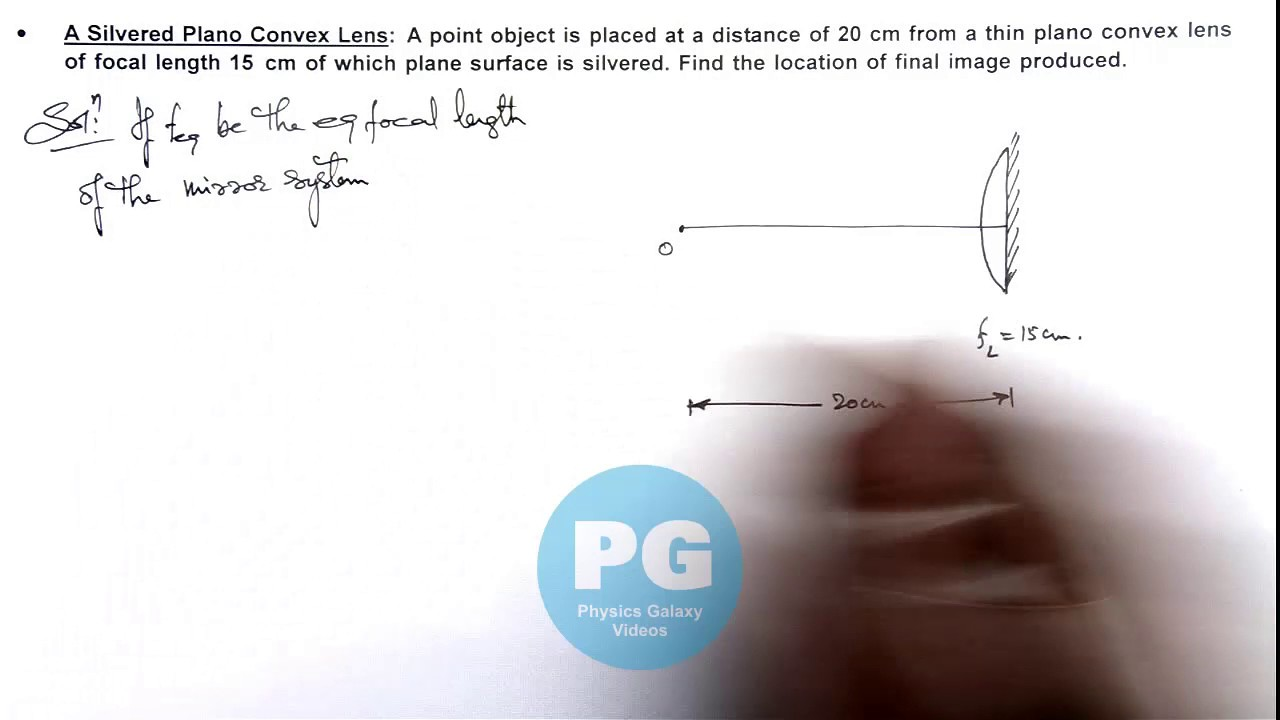 maxresdefault 13 physics geometrical optics a silvered plano convex lens by