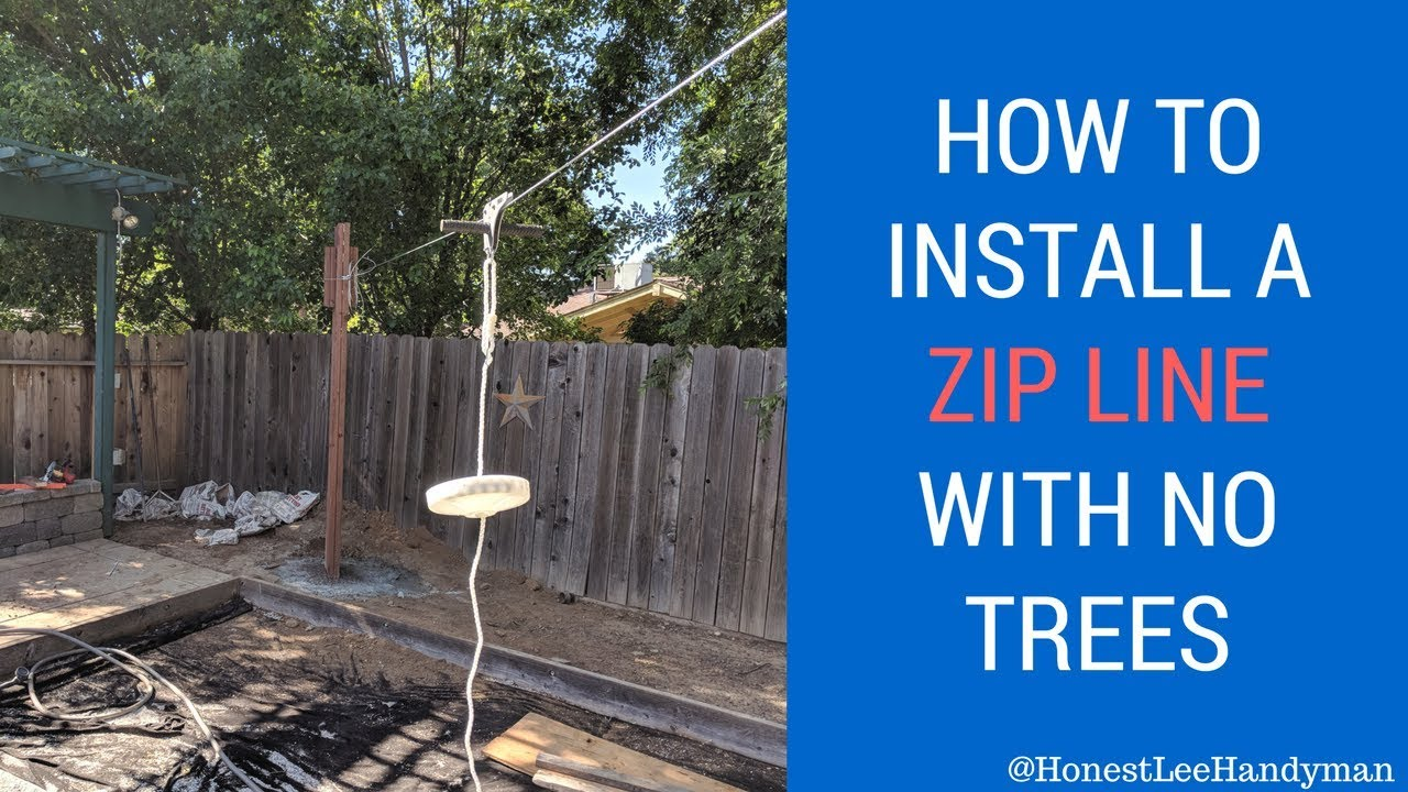 Handyman jobs / How To Install A Zip Line With No Trees / Slackers DIY - Handyman Jobs / How To Install A Zip Line With No Trees / Slackers