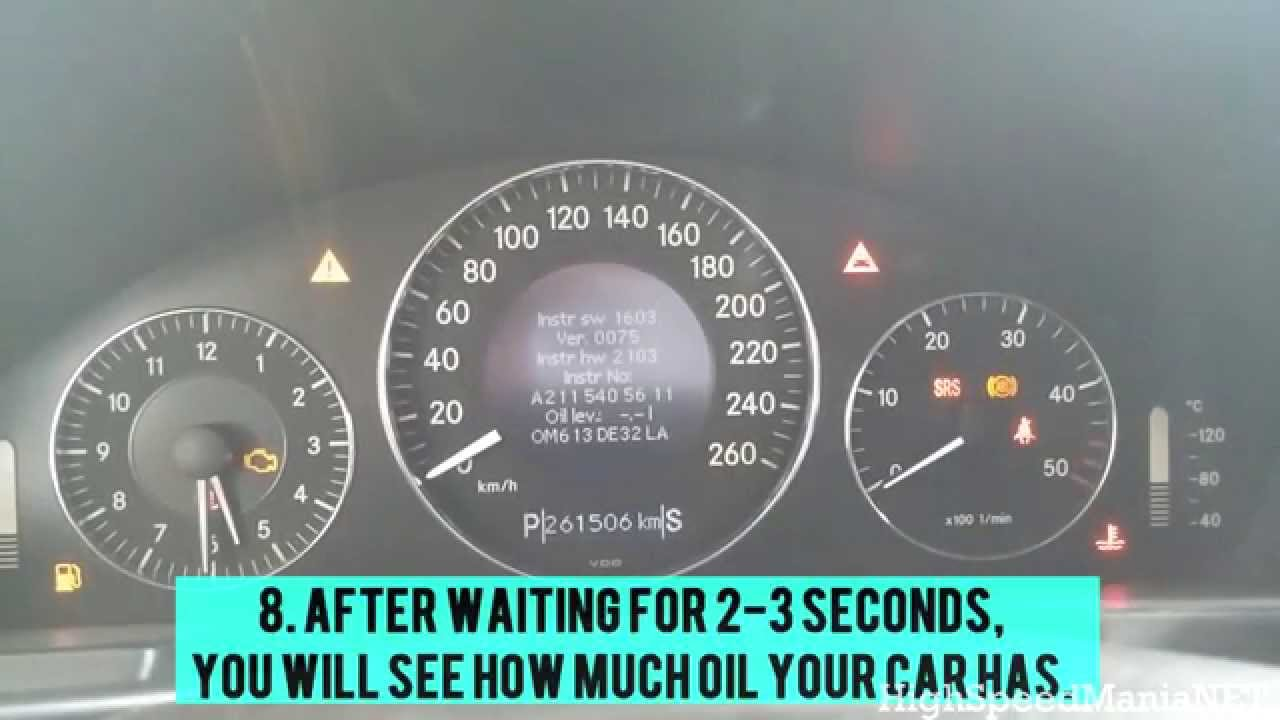 Tutorial How To Check Oil Level Mercedes E320 Cdi