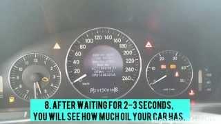 tutorial how to check oil level mercedes e320 cdi w211