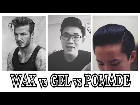 hair products wax pomade gel what s the difference youtube