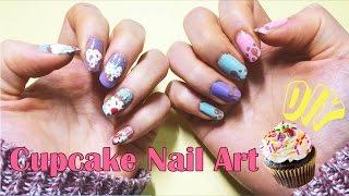 Capcake nail art tutorial 컵케이크…