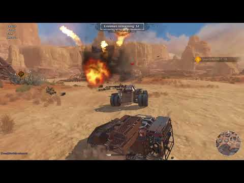 Crossout Defence HARD RAIDS with  Auto cannon, Machine gun and Unguided rocket