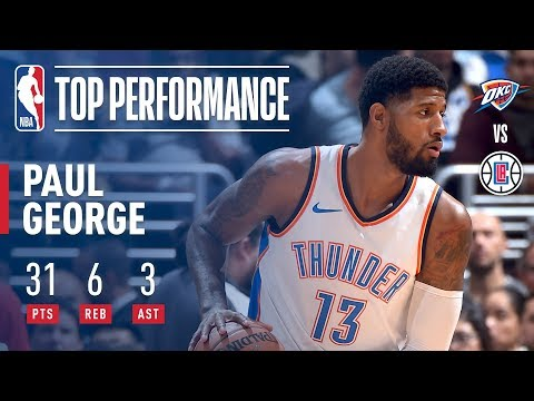 Paul George Pours in 31 Points to Help Lead The Thunder to Victory | January 4, 2018