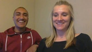 Brianne Theisen-Eaton and Ashton Eaton on their retirement