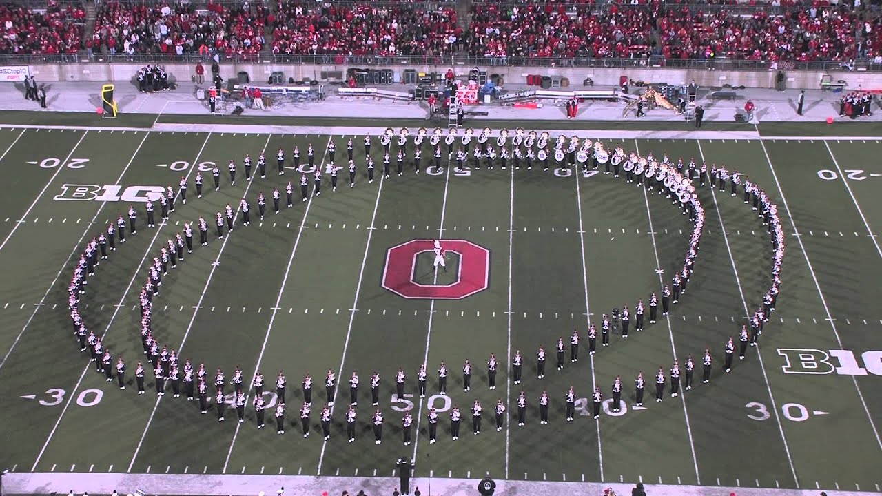Marching Performs their University Ohio Band State The