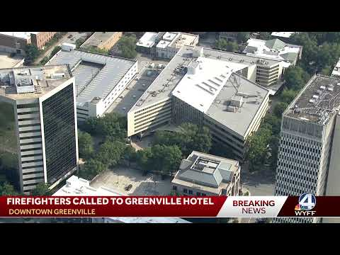 Firefighters called to downtown Greenville hotel, smoke reported on multiple floors, official says