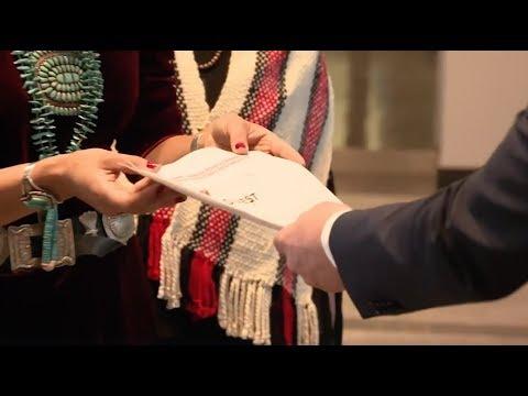 Indigenous Women's Divestment Delegation Confronts Credit Suisse at Shareholder Meeting