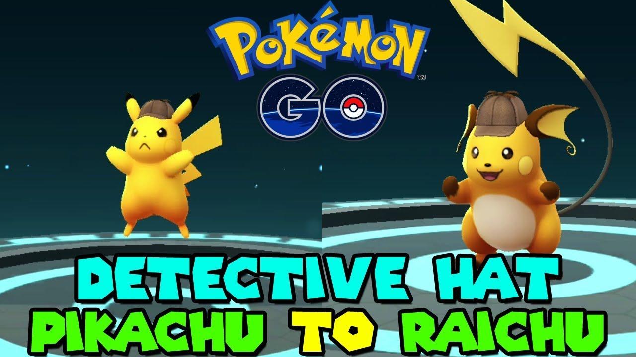 Evolving Detective Hat Pikachu To Detective Hat Raichu In Pokemon Go Youtube