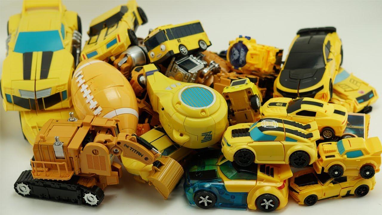 Bumblebee Yellow Car Transformers Prime Excavator Truck