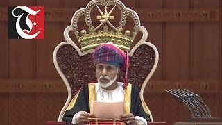 His Majesty Sultan Qaboos presides over the Council of Oman
