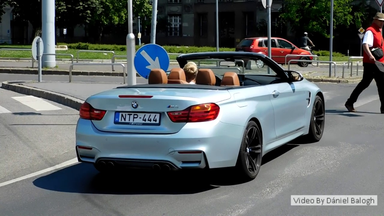 BMW M4 F83 Convertible sound and acceleration in Budapest ...