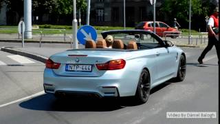 BMW M4 F83 Convertible Sound And Acceleration In Budapest