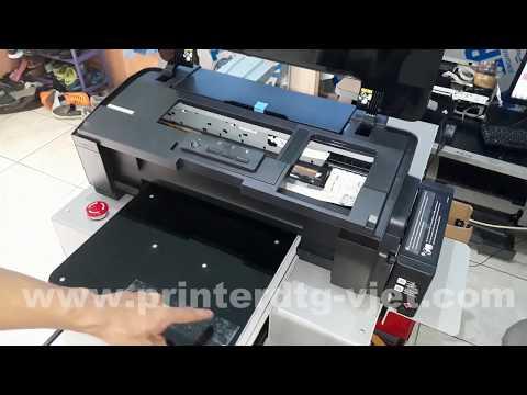 Cara isi tinta DTG, Cleaning dan Nozzle Check L1800 DTG Printer