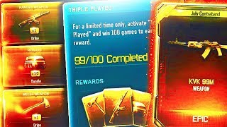 "99/100 WINS - NUKE to UNLOCK his BLACK OPS 3 ""TRIPLE PLAY"" CONTRACT! OPENING FREE NEW BO3 DLC WEAPON"