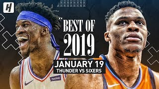 Best of 2019: Oklahoma City Thunder vs Philadelphia 76ers - Full Game Highlights | January 19, 2019 Video