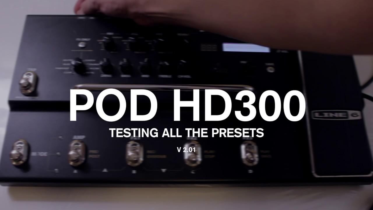 line 6 pod hd300 pedal factory preset demo review youtube. Black Bedroom Furniture Sets. Home Design Ideas