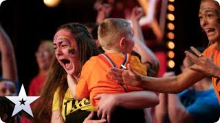 GOLDEN BUZZER! Sign Along With Us put on the GREATEST show in EMOTIONAL Audition | BGT 2020