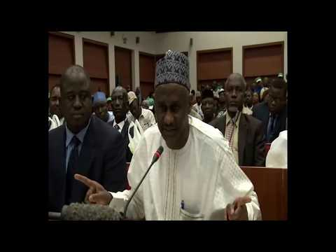 Executive Secretary NHIS Nigeria in a Public Hearing on NHIS