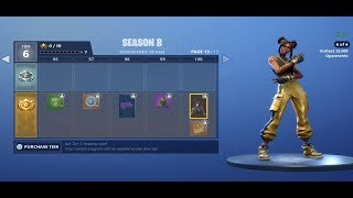All skins and items of season 8 Battle Pass | Battle Pass Overview |