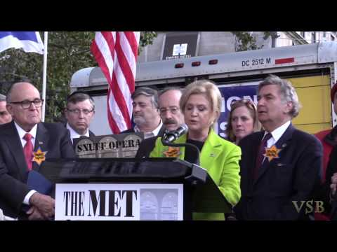 Congresswoman Carolyn Maloney at Klinghoffer Protest