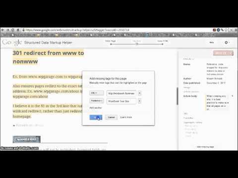 Adding semantic data with Google Structured Data Markup Helper