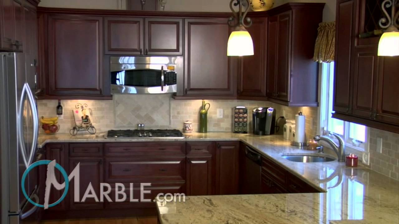 Tile Kitchen Countertops Small Kitchens Astoria Granite Ii | Marble.com - Youtube