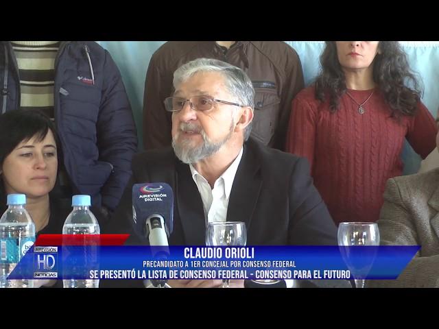 Orioli Se presentó la lista de Consenso Federal Vital Orioli