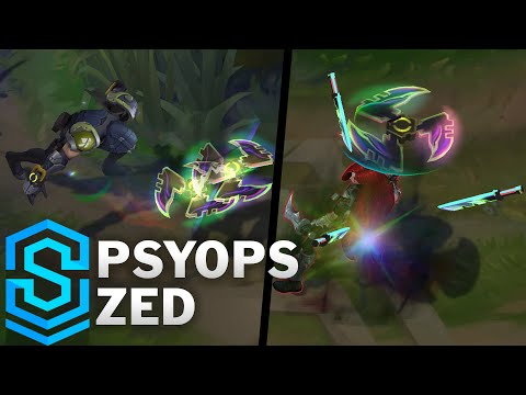 PsyOps Zed Skin Spotlight - Pre-Release - League of Legends