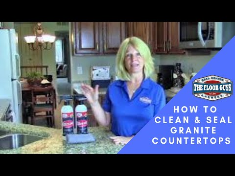 How to Seal & Clean Your Granite Countertops! ( Takes No Time At All )